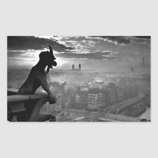 Paris Gargoyle 1920 Rectangular Sticker