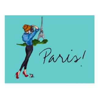 Paris Girl Postcard