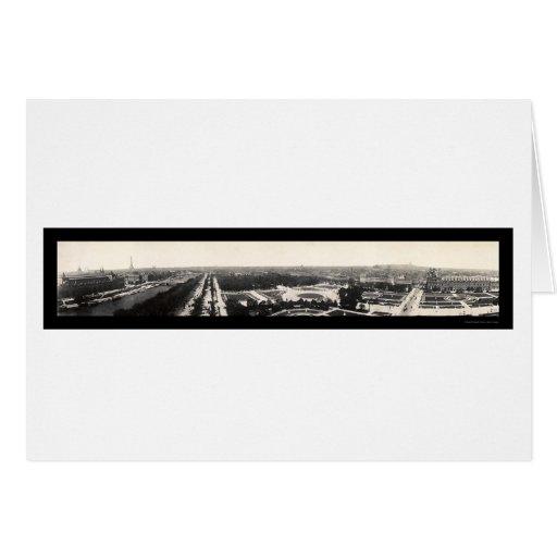 Paris Grand Panorama Photo 1909 Cards