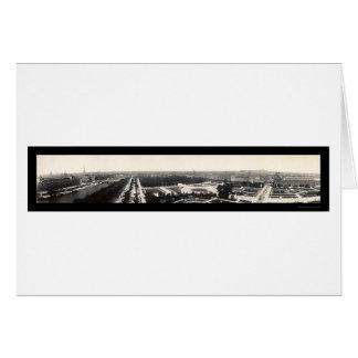 Paris Grand Panorama Photo 1909 Greeting Card