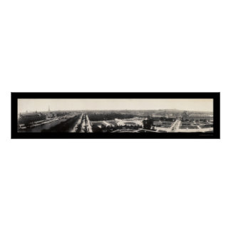 Paris Grand Panorama Photo 1909 Poster