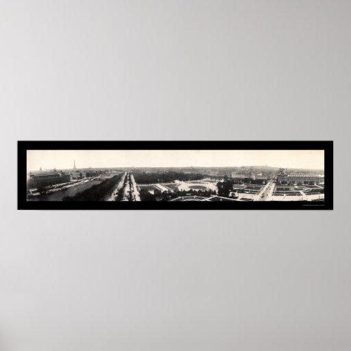 Paris Grand Panorama Photo 1909 Posters
