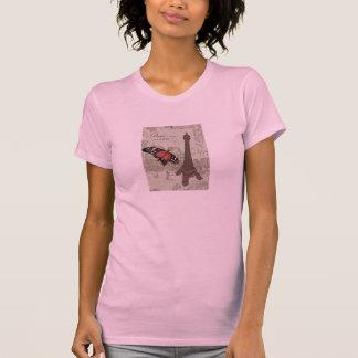 Paris, grunge vintage eiffel tower shirts