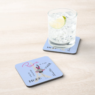 Paris Haute Couture, Fashion, Eiffel Tower Beverage Coasters