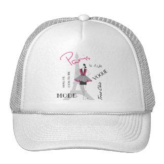 Paris Haute Couture, Fashion, Eiffel Tower Trucker Hat