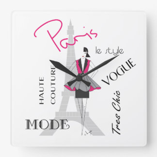 Paris Haute Couture, Fashion, Eiffel Tower Clocks