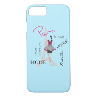 Paris Haute Couture, Fashion, Eiffel Tower iPhone 7 Case