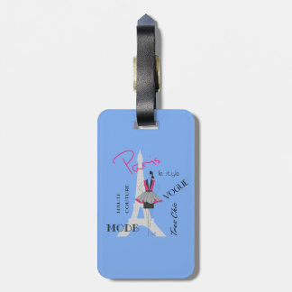 Paris Haute Couture, Fashion, Eiffel Tower Luggage Tag