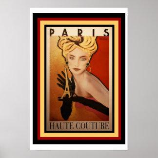 Paris Haute Couture Poster 13 x 19