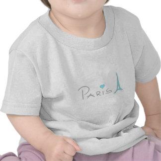 Paris Heart Eiffel Tower Shirt