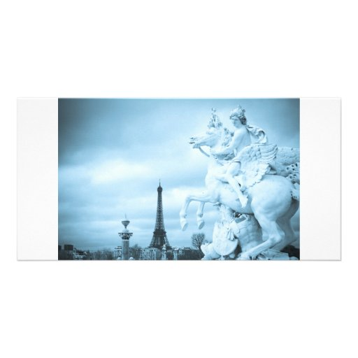 Paris Horse of Marley Photo Card Template