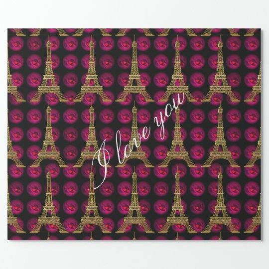 Paris Hot Villa Elegant Customise Wrapping Paper