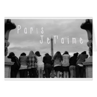 Paris, I Love You Card