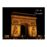 Paris Illuminations: Arc de Triomphe Postcard