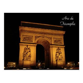 Paris Illuminations: Arc de Triomphe Postcard