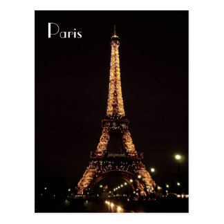 Paris Illuminations The Eiffel Tower Post Cards