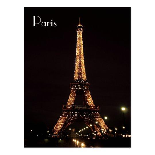 Paris Illuminations: The Eiffel Tower Postcard