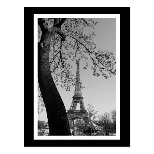 paris in b&w postcard