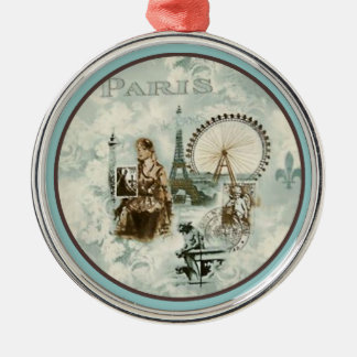 Paris in Bleu Christmas Ornament
