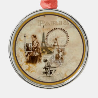 Paris in Brun Christmas Ornament
