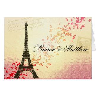 Paris in Love - Eiffel Tower Greeting Card