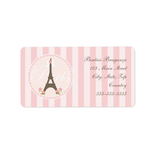 Paris in Spring Girly Label