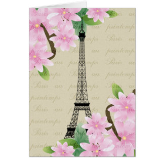 Paris in the Spring Card