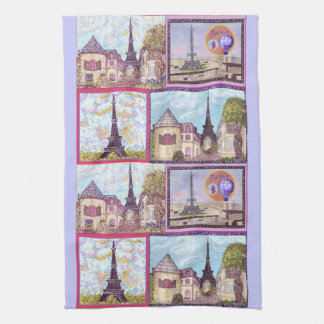Paris Inspired Cityscapes And The Eiffel Tower Ame Tea Towel