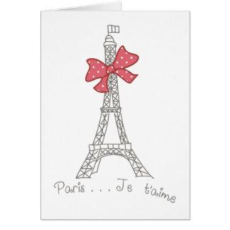 Paris Je t aime Card