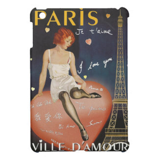 Paris je t' aime, old poster. iPad mini covers