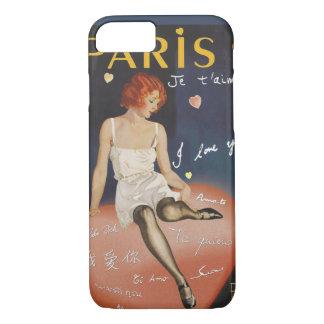 Paris je t' aime, old poster. iPhone 8/7 case