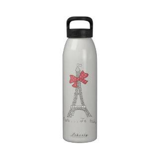 Paris Je t aime Reusable Water Bottle
