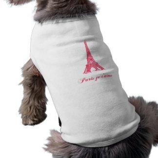 Paris je t'aime Pup Shirt Dog Clothing