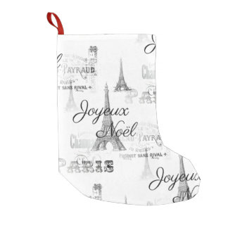Paris Joyeux Noel Christmas Stocking