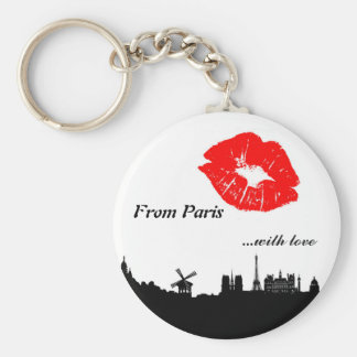 Paris Key Chain, with coils Key Ring