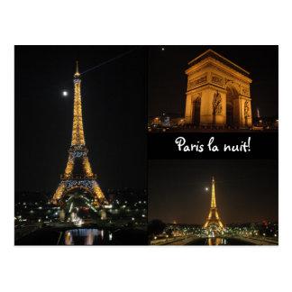 Paris la nuit! postcard