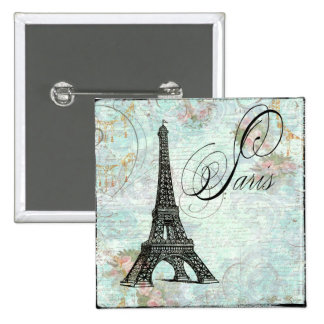Paris La Tour Eiffel French Design 15 Cm Square Badge