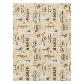 Paris Label Collage French Postcards Table Cloth Tablecloth