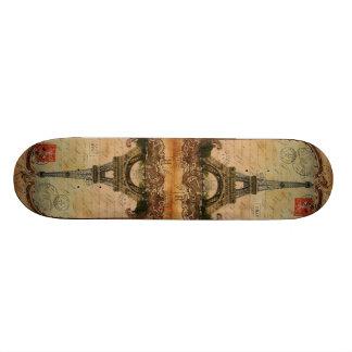 paris landscape vintage eiffel tower decor skate board deck
