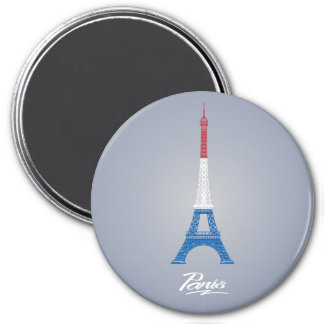 Paris Large, 3 Inch Round Magnet