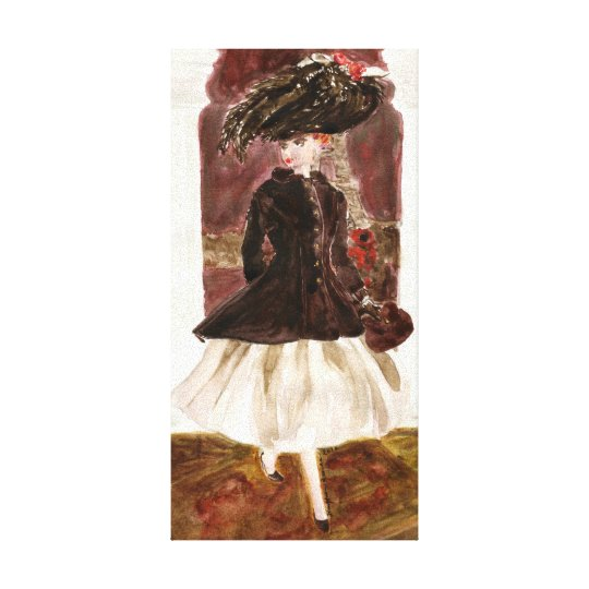Paris Lights: Matisse Doll Fashion Canvas Print