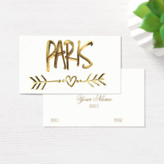 Paris Love France Gold Look Typography Elegant Business Card