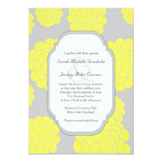 Paris Loves Yellow Flowers Affordable Wedding 13 Cm X 18 Cm Invitation Card
