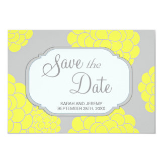 Paris Loves Yellow Flowers Save the Date Budget 9 Cm X 13 Cm Invitation Card