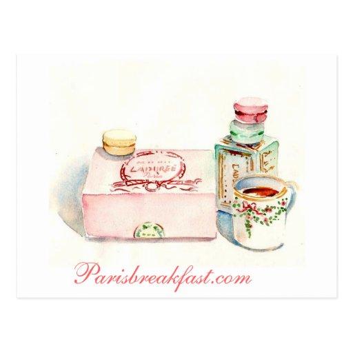Paris Macaron box by Carol Gillott Post Card