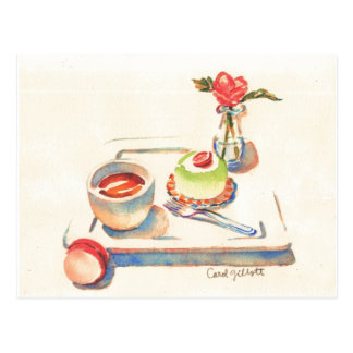 Paris Macaron watercolor Postcard