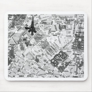 paris map mouse mat