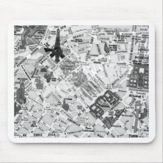 paris map mouse pad