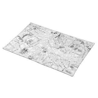 Paris Map Placemat