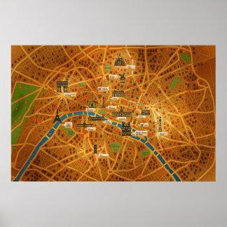 Paris Map Posters